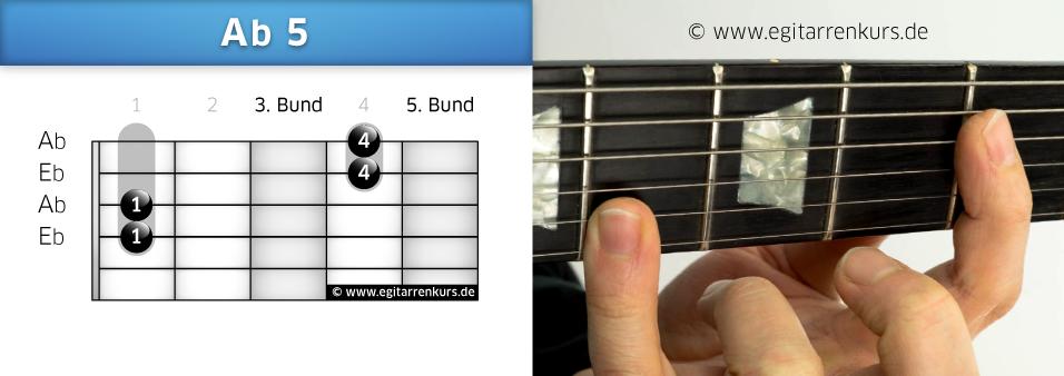 Ab 5 Gitarrenakkord Voicing 1