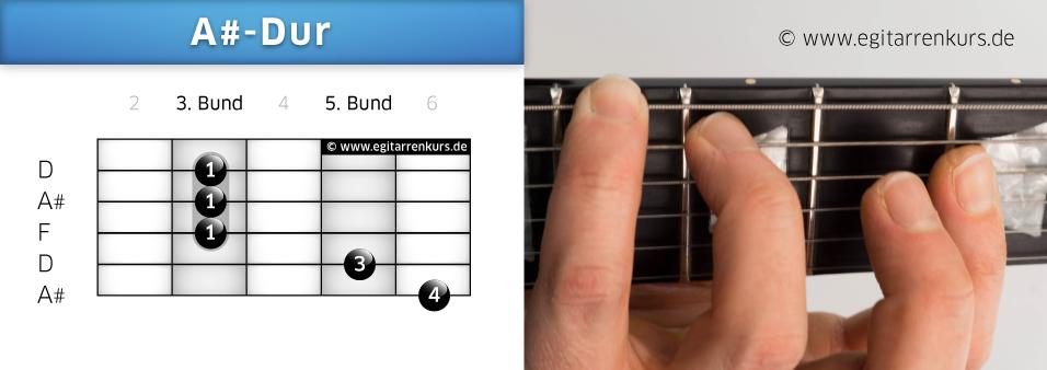 A#-Dur Gitarrenakkord Voicing 2