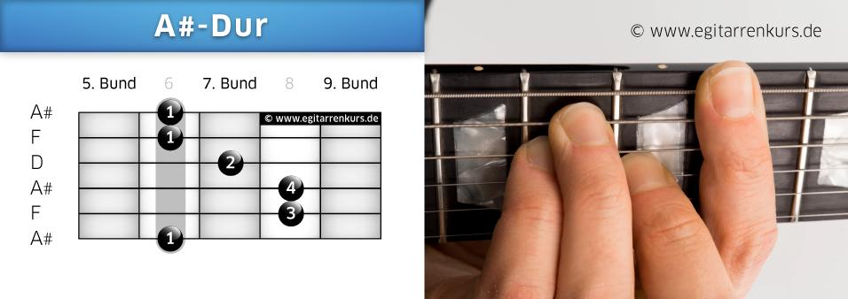 A#-Dur Gitarrenakkord Voicing 3