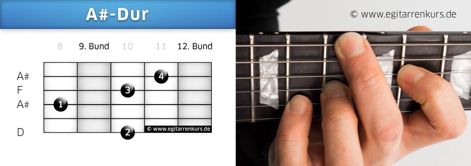 A#-Dur Gitarrenakkord Voicing 4