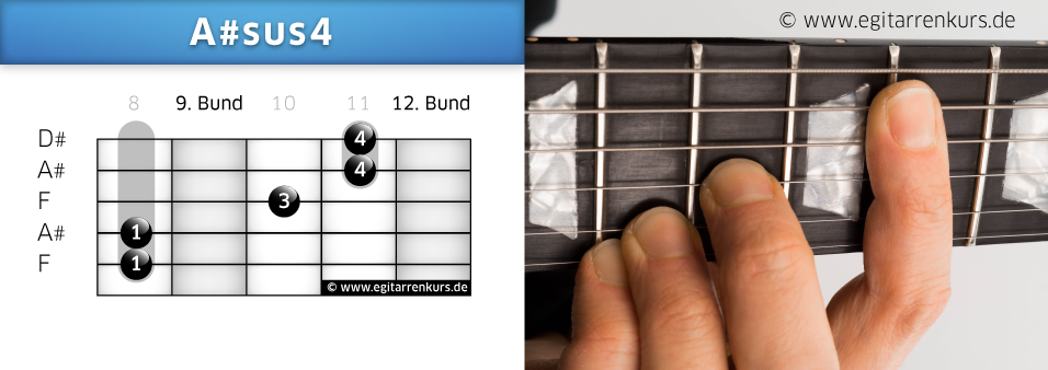 A#sus4 Gitarrenakkord Voicing 6