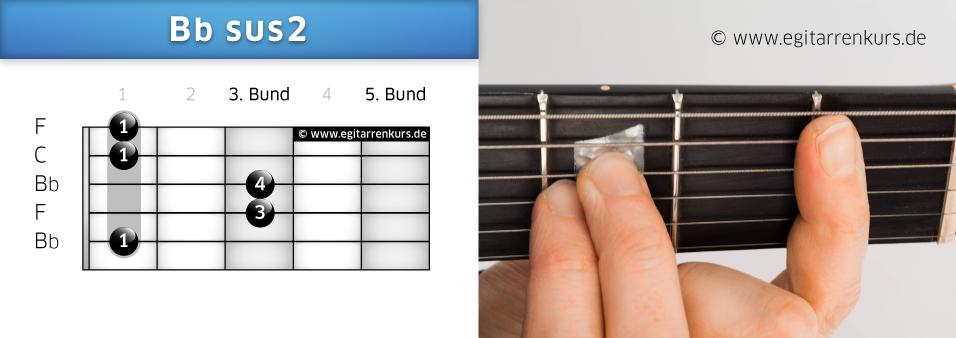 Bbsus2 Gitarrenakkord Voicing 1