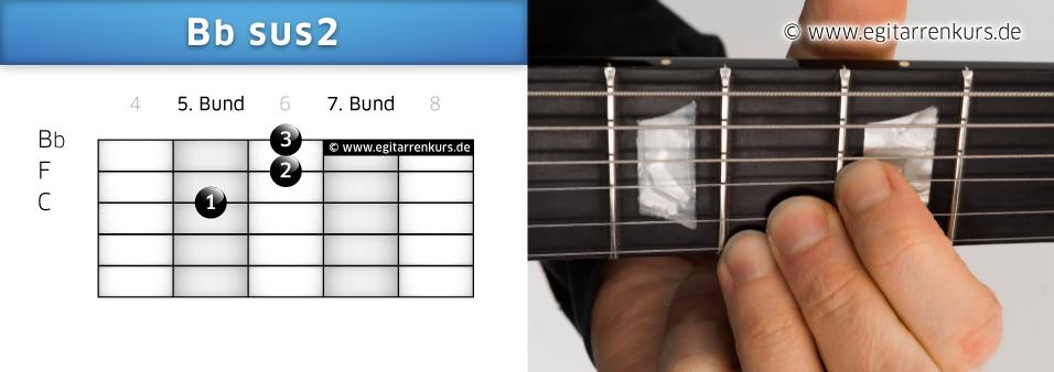 Bbsus2 Gitarrenakkord Voicing 2