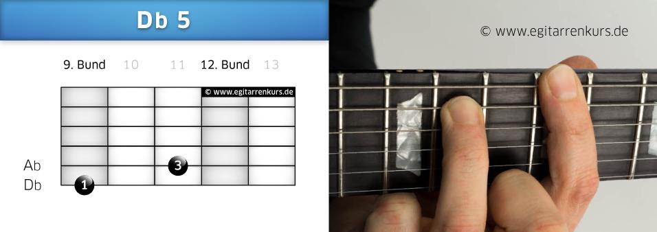 Db 5 Gitarrenakkord Voicing 5