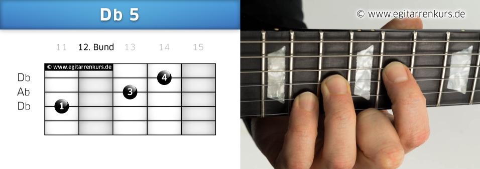 Db 5 Gitarrenakkord Voicing 6