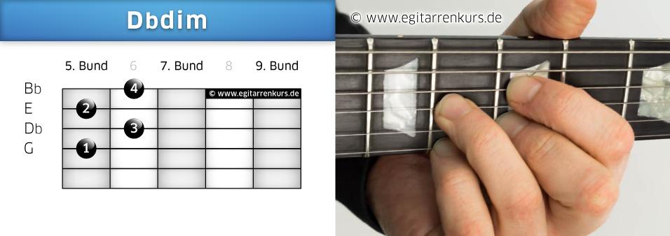 Dbdim Gitarrenakkord Voicing 3
