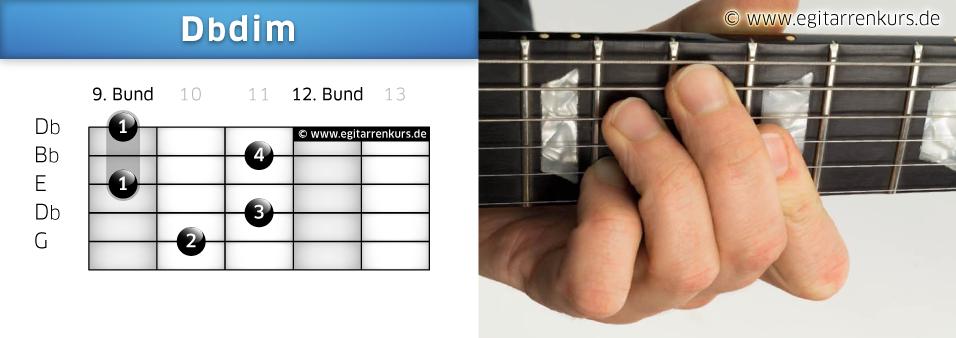 Dbdim Gitarrenakkord Voicing 5