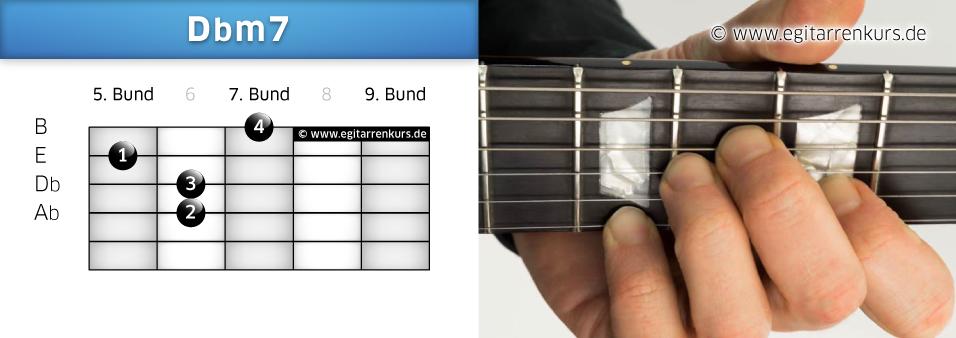 Dbm7 Gitarrenakkord Voicing 4