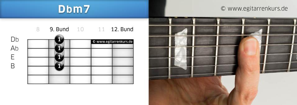 Dbm7 Gitarrenakkord Voicing 5