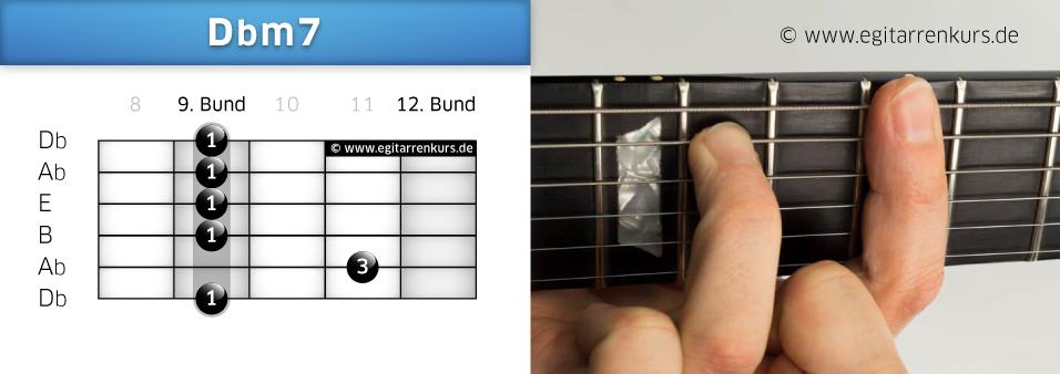 Dbm7 Gitarrenakkord Voicing 6