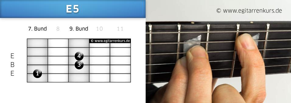 E5 Gitarrenakkord Voicing 3