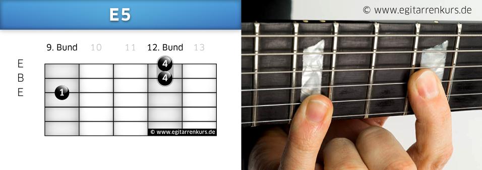E5 Gitarrenakkord Voicing 5