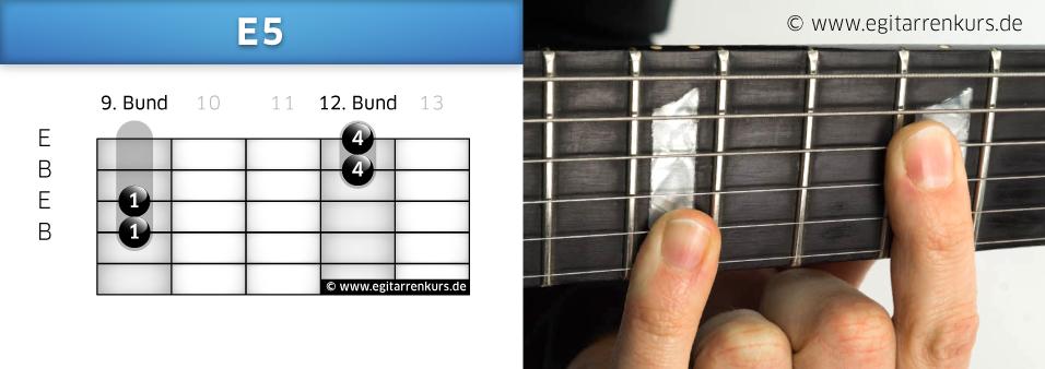 E5 Gitarrenakkord Voicing 6