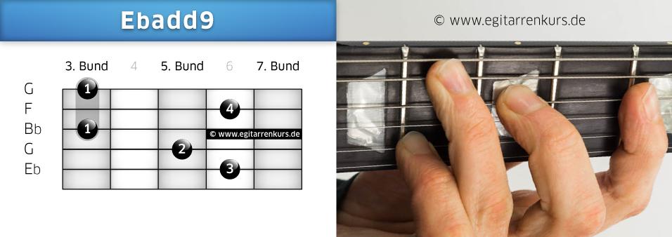 Ebadd9 Gitarrenakkord Voicing 3
