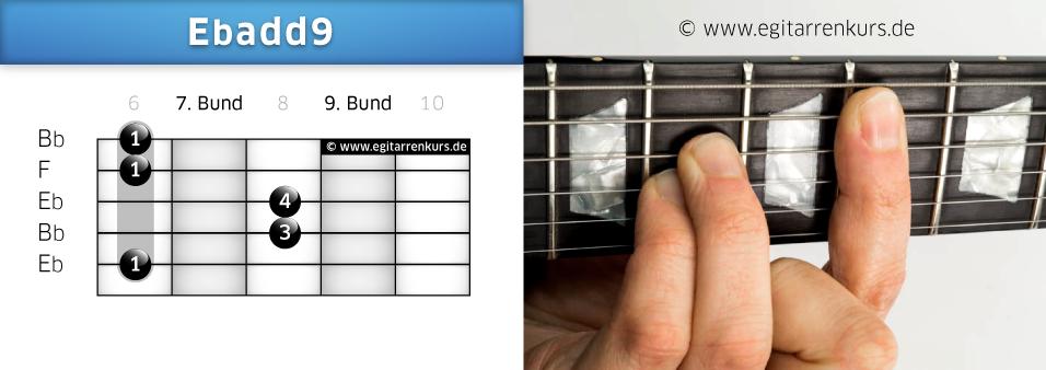 Ebadd9 Gitarrenakkord Voicing 4