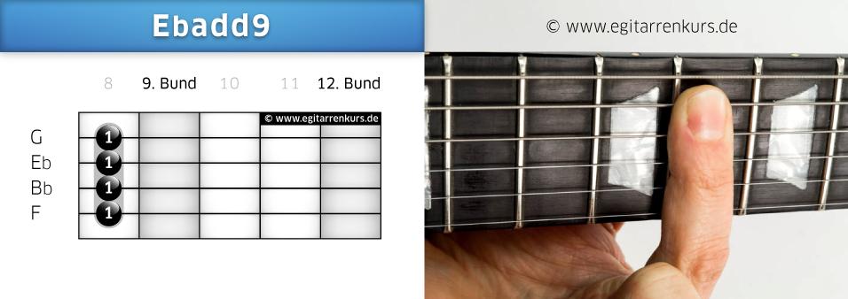 Ebadd9 Gitarrenakkord Voicing 5