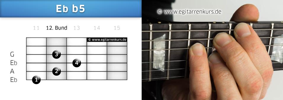 Eb b5 Gitarrenakkord Voicing 6