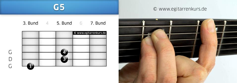 G5 Gitarrenakkord Voicing 2
