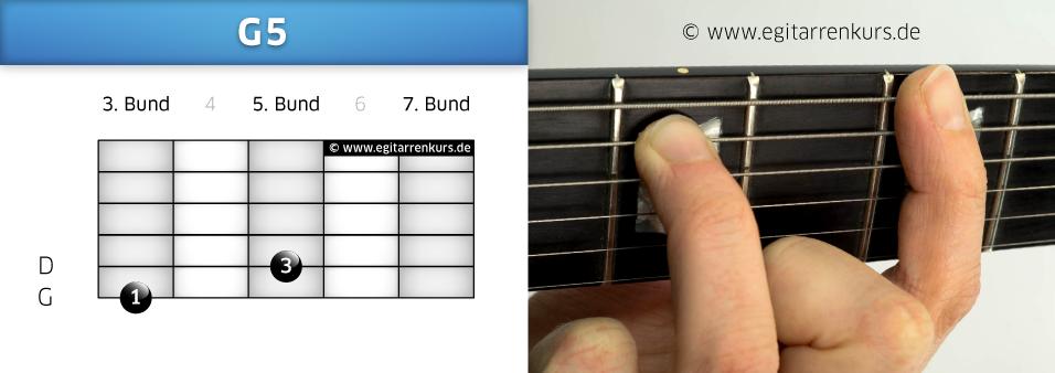 G5 Gitarrenakkord Voicing 3