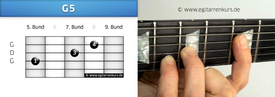 G5 Gitarrenakkord Voicing 4