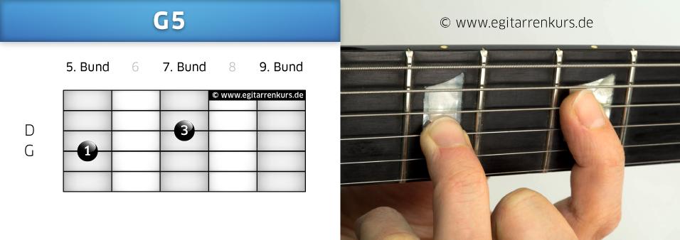 G5 Gitarrenakkord Voicing 5
