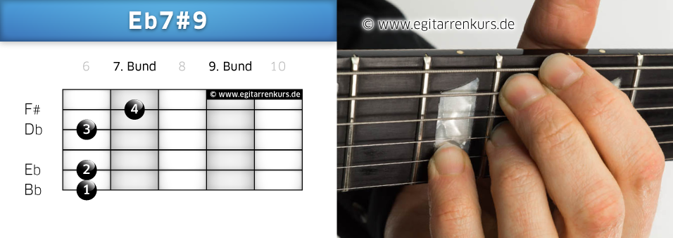 Eb7#9 Gitarrenakkord Voicing 3
